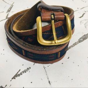 Leather Boho Aztec Belt
